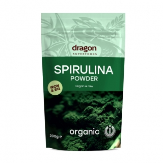 Spirulina prášek BIO RAW 200 g - Dragon Superfoods