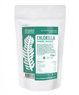 Chlorella prášek BIO RAW 200 g - Dragon Superfods