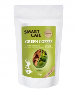 Green Cofee - zelená káva se  skořicí BIO RAW 200 g - Dragon Superfoods